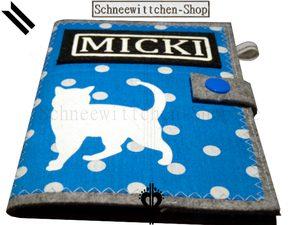 Katzenpasshüllen Micki in blau