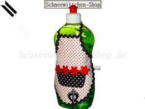 Spülschürze PÜNKTCHEN in Weiss-Schwarz