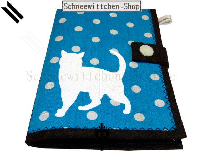 Katzenpasshüllen Micki in blau-schwarz