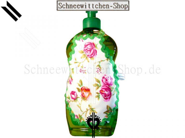 Spülschürze grün mit Rosen