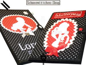U-Hefthüllen + Mutterpasshüllen Mami Set in schwarz-rot