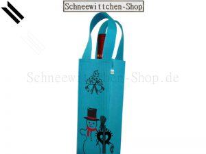 Flaschentasche Schneemann