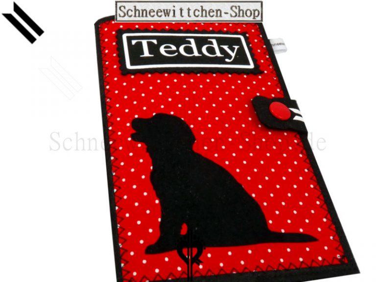 Golden Retriever   EU-Heimtierausweis Hundepasshülle Teddy EU-Heimtierausweis Hülle Heimtierausweis Impfpass Hülle Golden Retriever