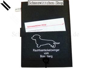 ZÜCHTER EU-Heimtierausweise für Rauhaarteckel   Hundepasshüllen mit ihrem ZÜCHTER LOGO   blau
