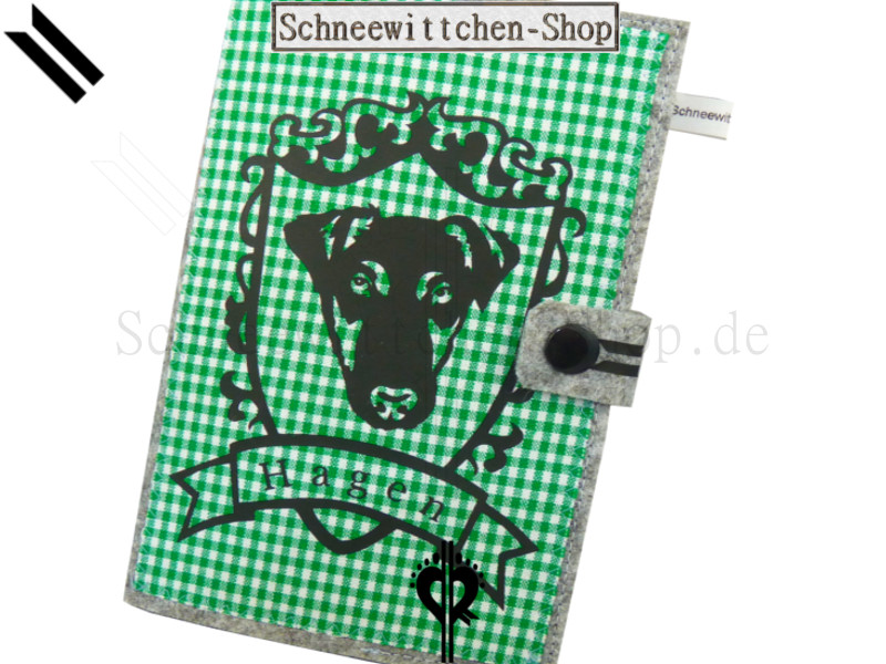 Hundepasshülle Hubertus. DEUTSCH DRAHTHAAR EU-Heimtierausweis