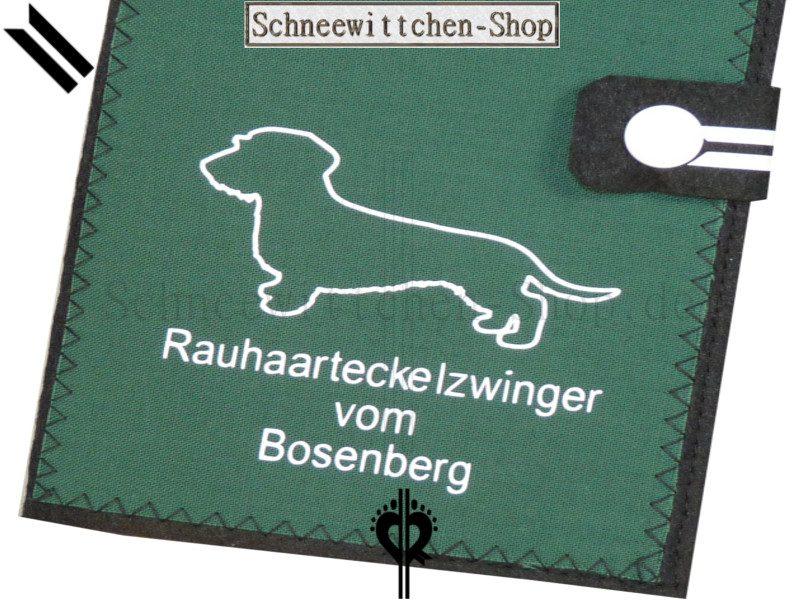 ZÜCHTER EU-Heimtierausweise für Rauhaarteckel   Hundepasshüllen mit ihrem ZÜCHTER LOGO  