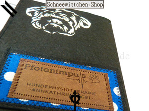 Shih Tzu EU-Heimtierausweis | Hundepasshülle | Tierpasshülle | Impfpasshülle felt case breeder protective cover pett passport individualization dog passport cover vaccination pet accessoire