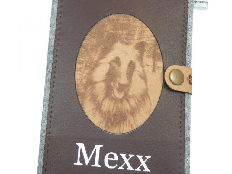 Bergian Tervuren mit Laser Gravur EU-Heimtierausweis Hundepasshülle EU-Heimtierausweis Hülle Heimtierausweis Impfpass Hülle Tierpasshülle Tierpersonalausweis