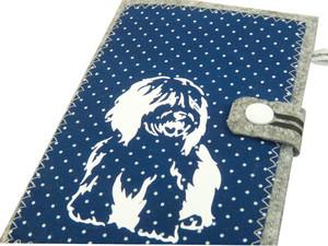 Bobtail Hundepass Hülle aus Filz EU-Heimtierausweis für den Impfpass